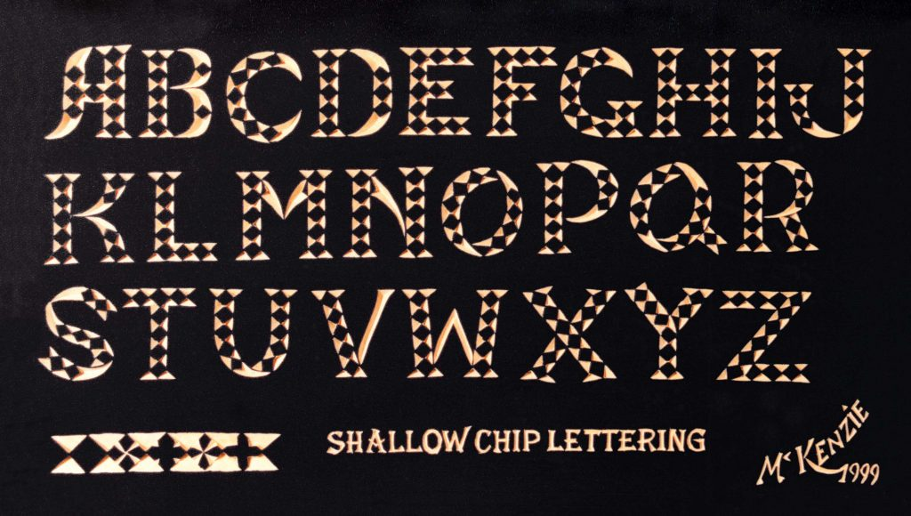 Chip Carving Letter Patterns