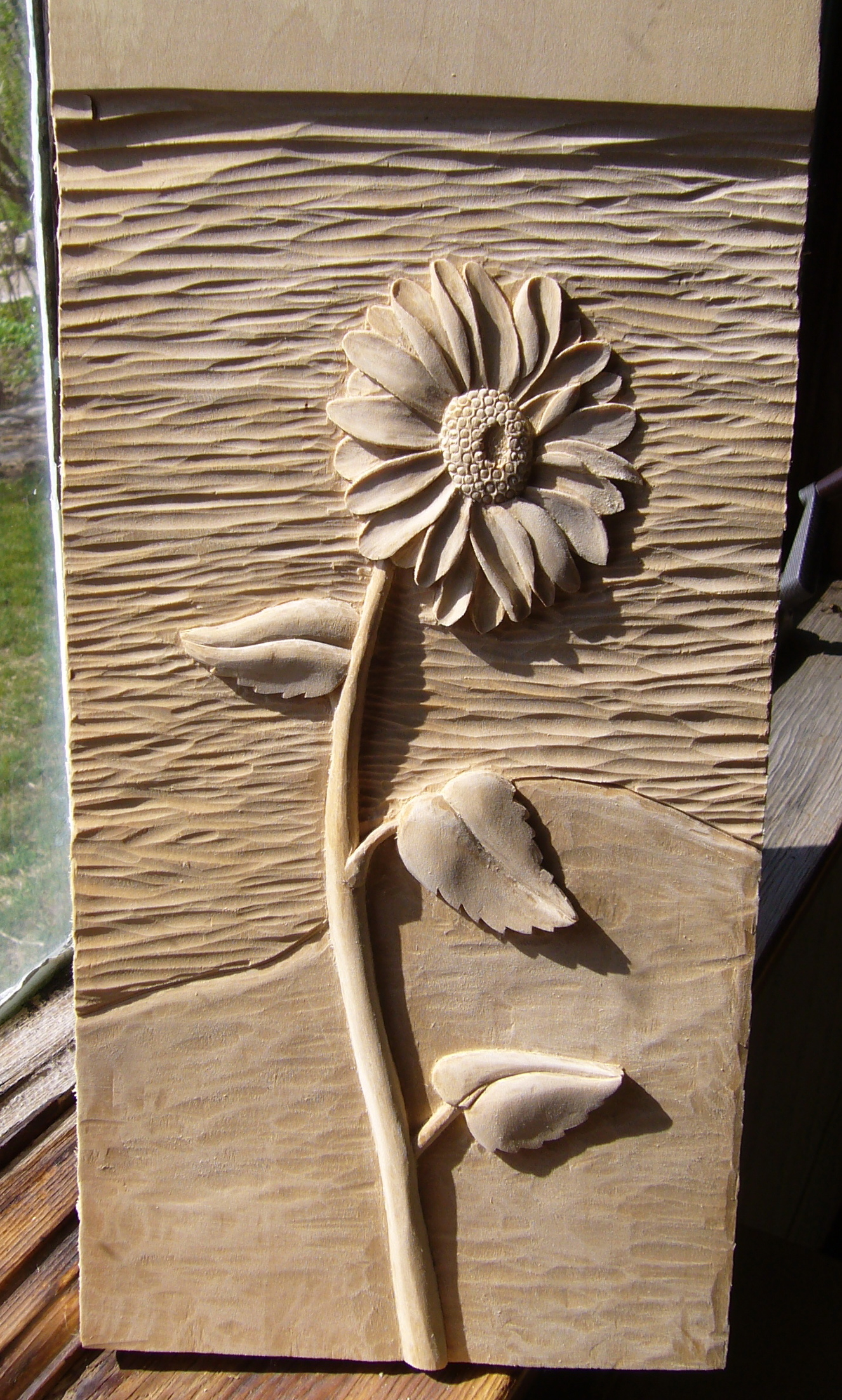 Flower relief carving year of clean water