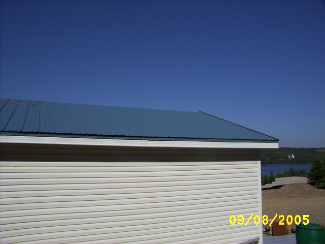 Slate blue VicWest metal roof
