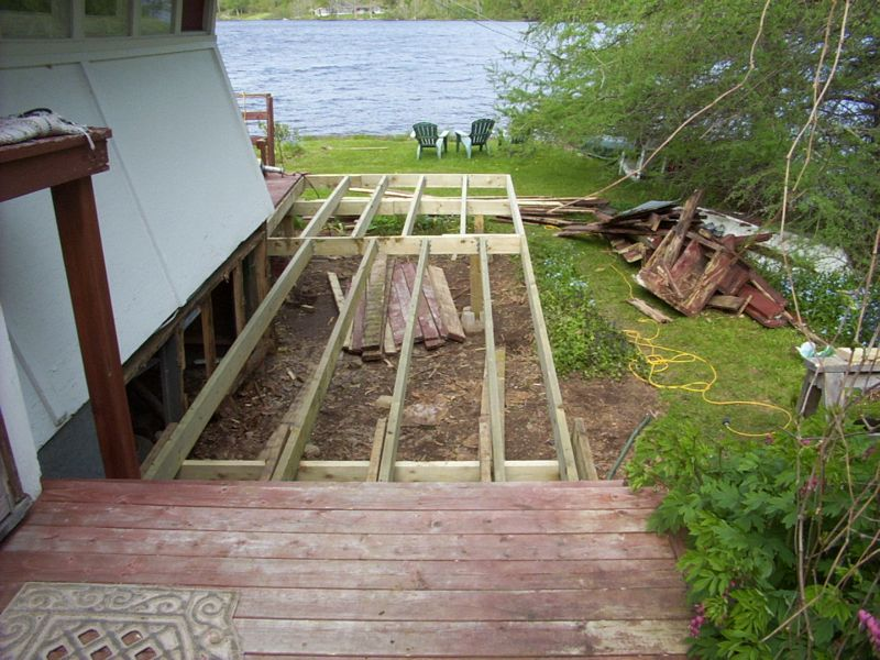Deck framing.