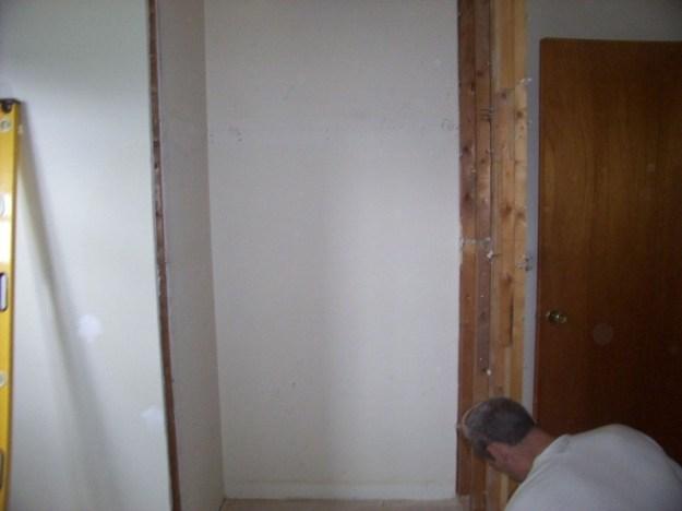 Closet removal.