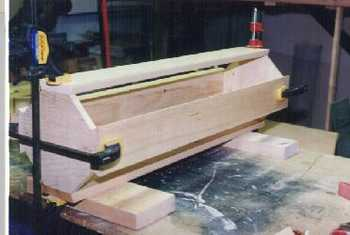 Wooden pedestal base woodworking project.