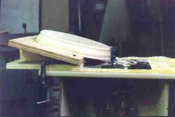 Router table tapering jig