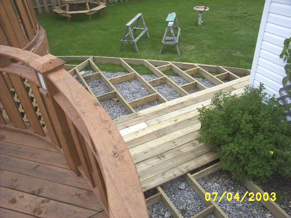 DIY deck construction