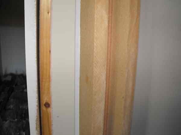 Mockup of door trim.