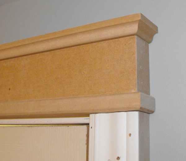 Door header molding.