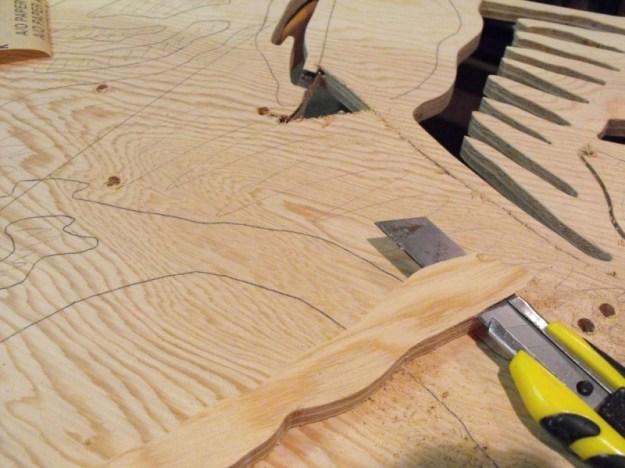 Making some veneer filler.