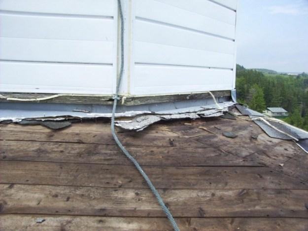 Steeple repairs at Kings United Church, Loch Katrine, Nova Scotia, Canada