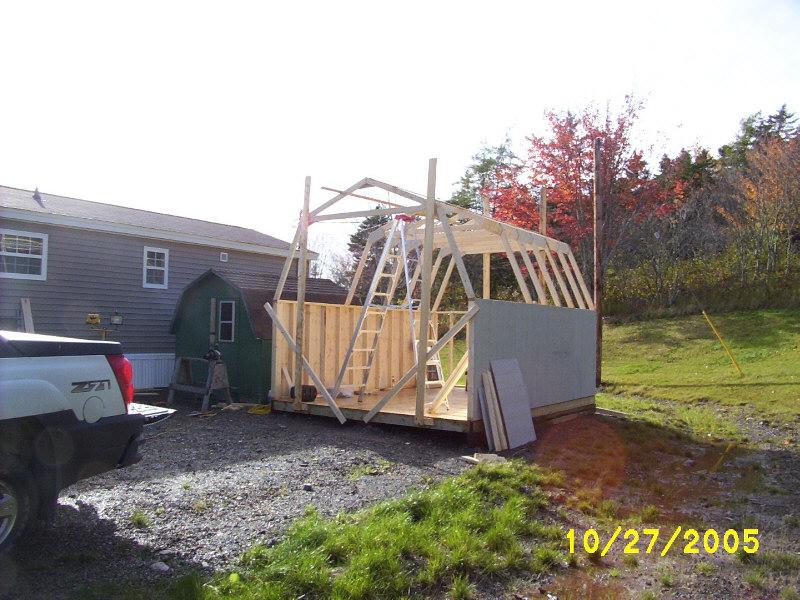 Baby barn finish building.