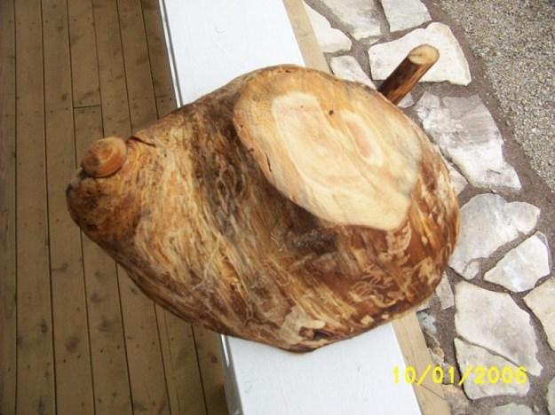 Wooden burl carved.
