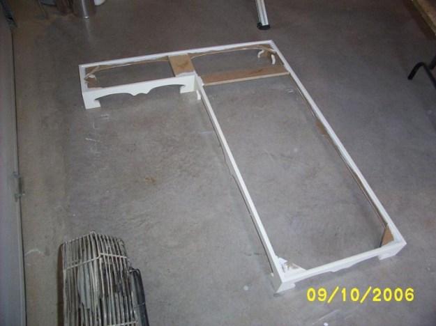Kitchen island base frame.