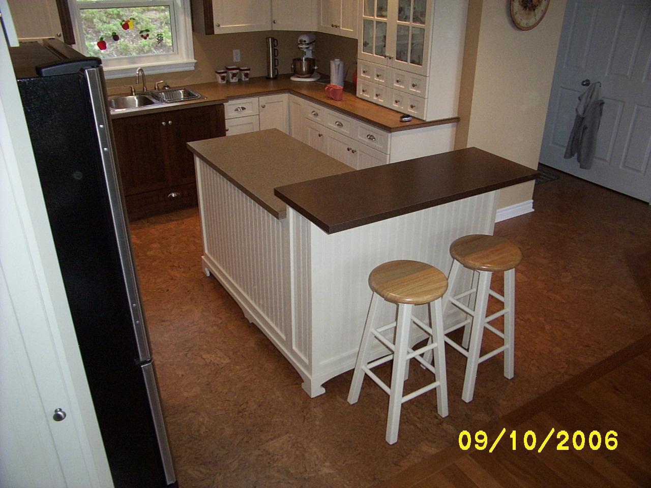 L Shaped Kitchen Island Breakfast Bar