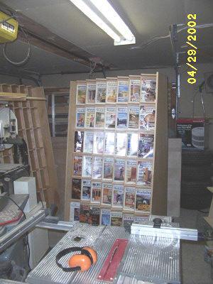 magazine display racks loaded.
