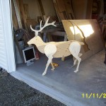 Reindeer yard art