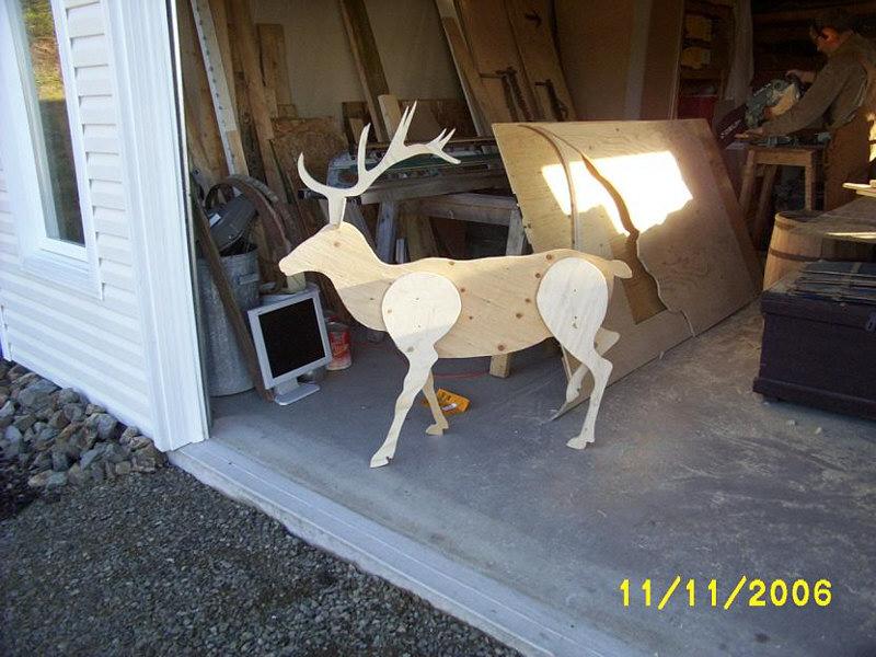 Reindeer yard art