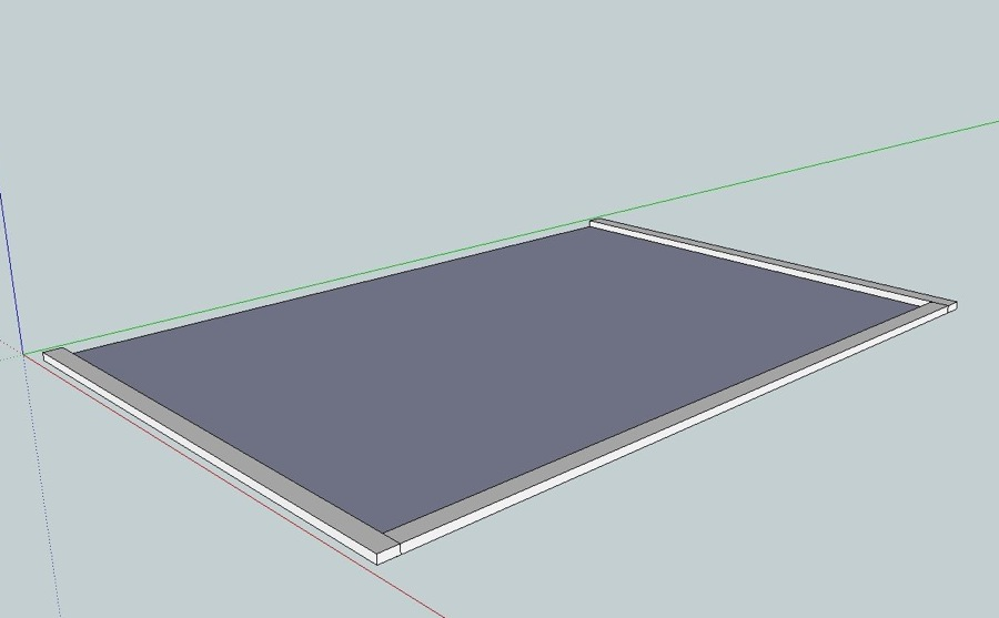 Sunroom Sketchup design footprint
