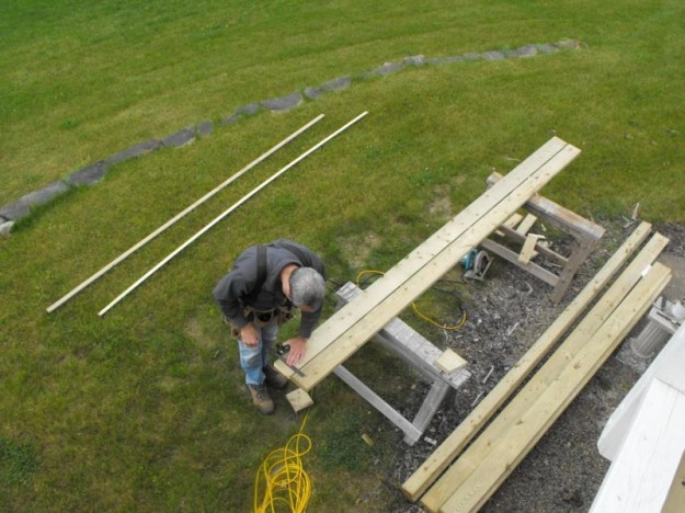 Sunroom deck construction 3