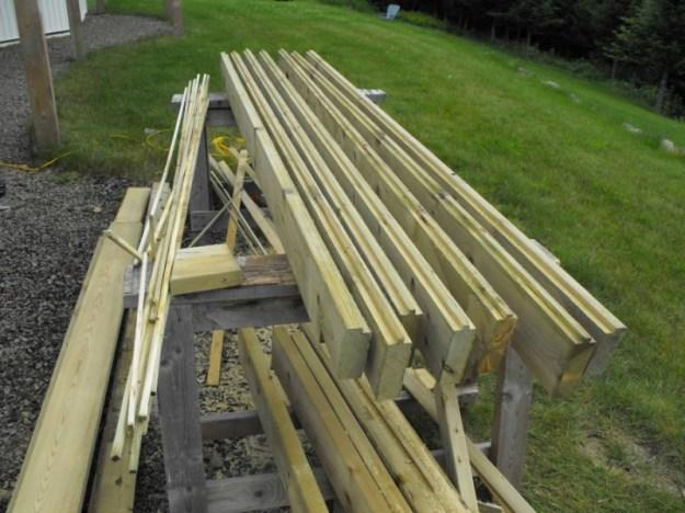 Sunroom deck construction 12