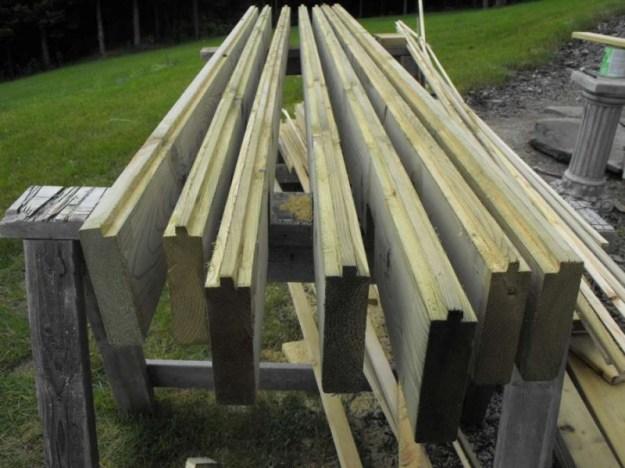 Sunroom deck construction 13