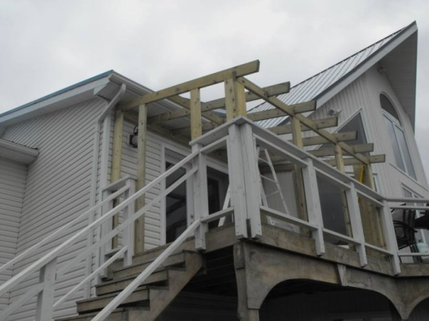 Sunroom deck construction 17