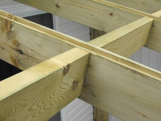 Sunroom deck construction 21