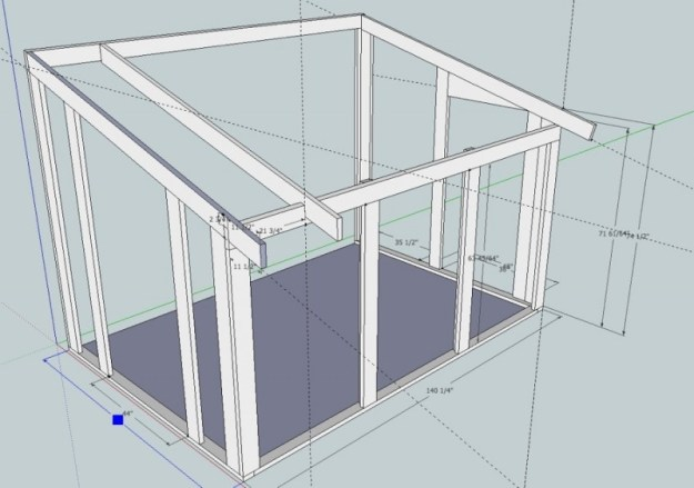 Sunroom Sketchup drawing 9