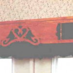 Country kitch door valence
