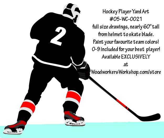 ... Player Right Hand Full Size Woodworking Pattern | WoodchuckCanuck.com