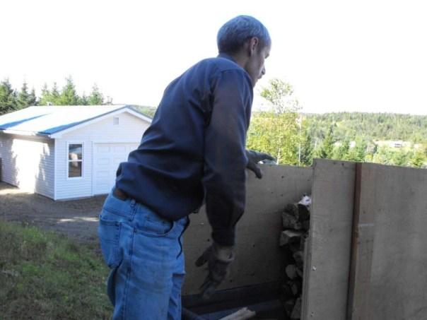 moving split fire wood