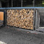 winter wood piled