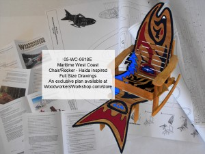 Maritime West Coast Haida Chair/Rocker Combo Woodworking Plan