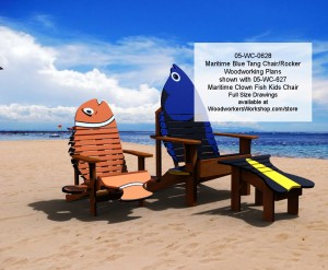 Maritime Blue Tang Chair and Rocker Woodworking Plan