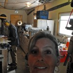 Jim Barry,Gina,workshop,wooden amps of Nova Scotia