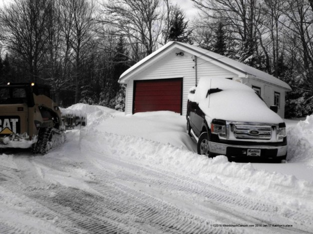 snow storm,deep snow,skidsteer