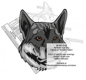 Northern Inuit Dog Intarsia or Yard Art Woodworking Patterns,plywood