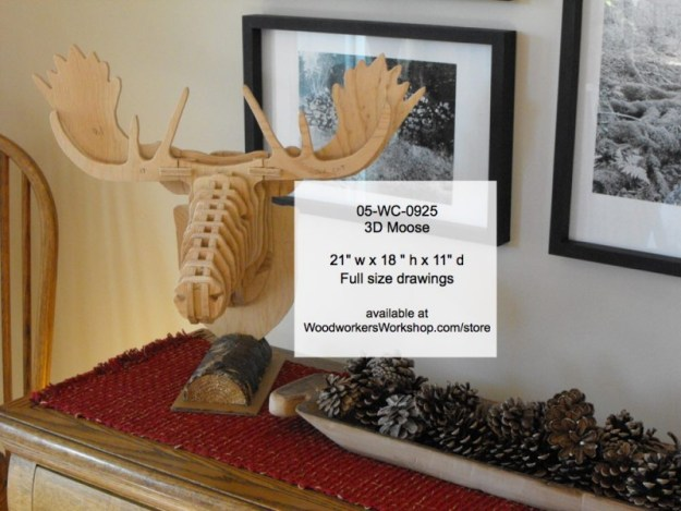 mooseheads,3D,plywood,bandsawing,scrollsawing