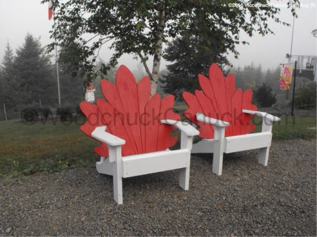 outdoor furniture,Adirondack style chairs,Maritimes,Maple Leaf,#asmapleas