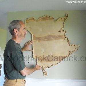 wooden maps,Atlantic Canada,New Brunswick,Maritimes provinces of Canada