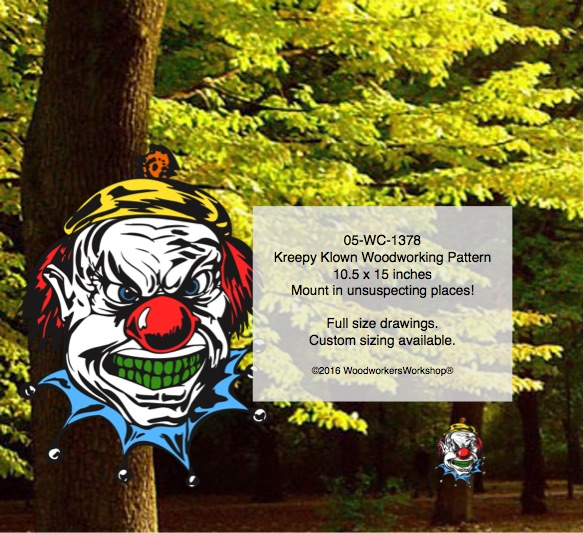kreepy klowns,creepy clowns,woodworking patterns