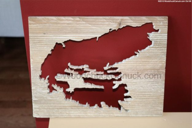 Cape Breton #3,wood maps,wood crafts,Nova Scotia
