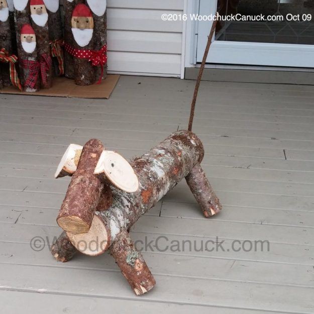 Dachshund Log Dogs,wood crafts