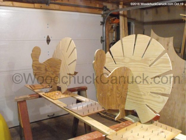 wild turkeys,Thanksgiving,plywood,woodowrking projects
