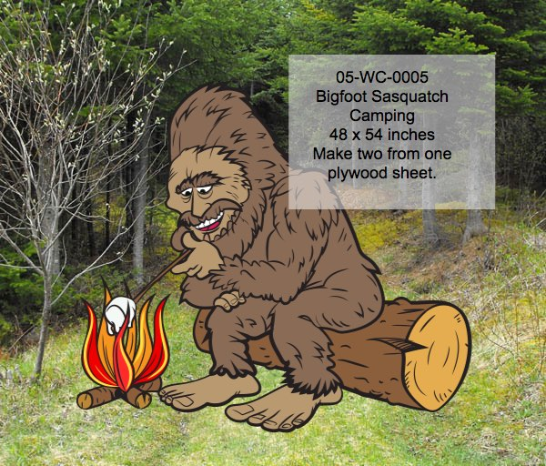 Sasquatch,Bigfoot,camping,marshmallows
