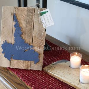 Wood map of Labrador,arts and crafts,Made in Nova Scotia,woodworking