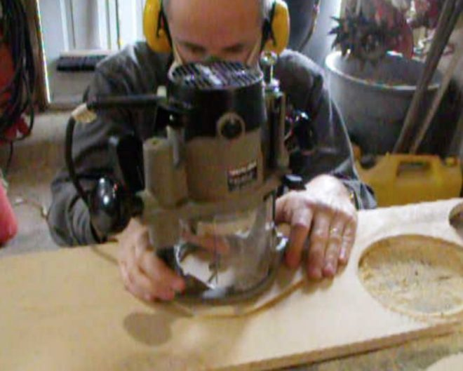 make your own plywood lamp base