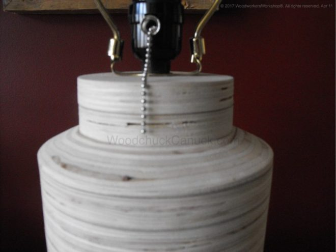 home decor,diy,plywood lamp base,tapered plywood