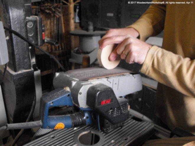 belt sanders, workshop,sanding plywood edges