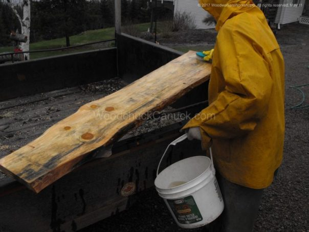 removing stains, pine boards