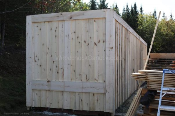 shipping container,board and batten,saw milling,logs to lumber