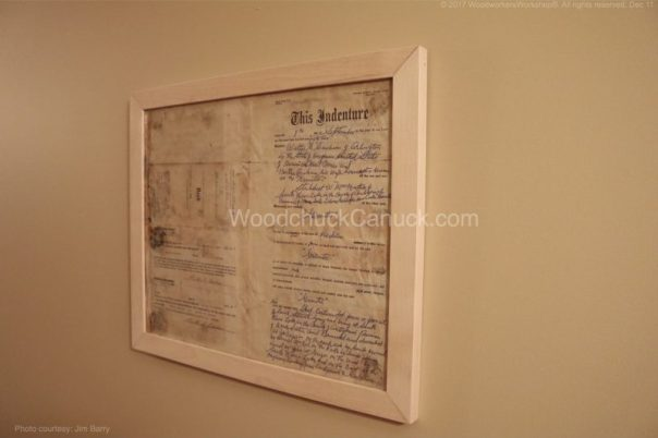 land deed, two sided picture frame